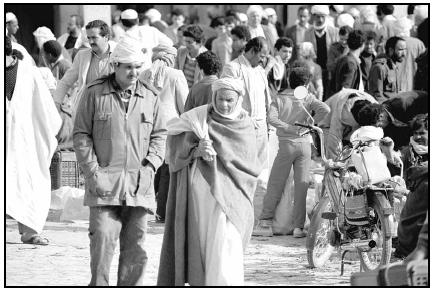 The marketplace in Algiers bustles with shoppers. Cory Langley