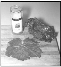 Grape leaves are sold in jars at most large supermarkets. In many Middle Eastern and Mediterranean countries, including Iran, cooks prepare a filling of rice and meat to be rolled up inside the tender grape leaves. The rolls are then simmered in a savory broth, often with tomato juice. EPD Photos