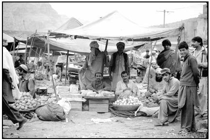 Fruit and vegetable vendors in Pakistan. Cory Langley