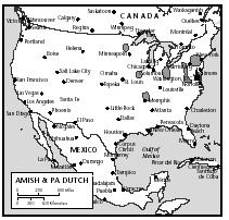 The states with the largest populations of Amish are Ohio and Pennsylvania.