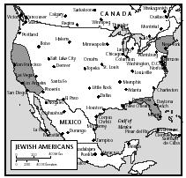 The states with the largest populations of Jewish Americans are New York, California, and Florida.