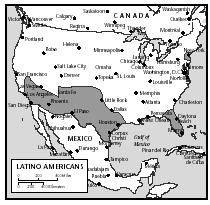 The states with the largest populations of Latino Americans are California, Arizona, New Mexico, Florida, and New York.