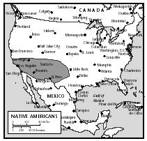 The states with the largest populations of Native Americans are Oklahoma, California, Arizona, and New Mexico.